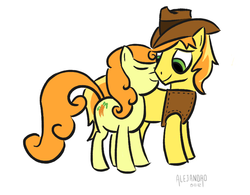 Size: 894x696 | Tagged: safe, artist:vsabbath, braeburn, carrot top, golden harvest, carrotburn, female, male, shipping, straight