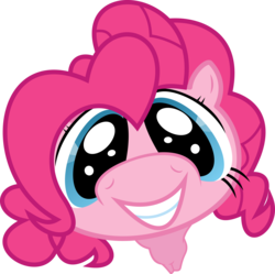 Size: 6049x6034 | Tagged: safe, artist:baka-neku, pinkie pie, earth pony, pony, absurd resolution, boop, cute, diapinkes, faic, female, fisheye lens, grin, looking at you, mare, offscreen character, ponk, pov, simple background, smiling, solo, squee, transparent background, vector
