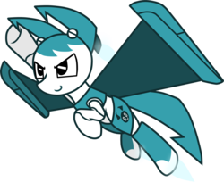 Size: 3597x2930 | Tagged: artist:he4rtofcourage, jenny wakeman, my life as a teenage robot, ponified, safe, simple background, transparent background