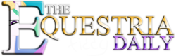 Size: 1024x326 | Tagged: safe, princess celestia, equestria daily, banner, logo, parody, stephen colbert, text, the colbert report