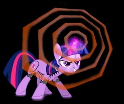 Size: 488x409 | Tagged: safe, artist:darkcynic, twilight sparkle, pony, robot, robot pony, at field, grin, neon genesis evangelion, roboticization, smiling, twibot