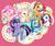 Size: 2980x2526 | Tagged: safe, artist:makura, applejack, fluttershy, pinkie pie, rainbow dash, rarity, twilight sparkle, earth pony, pegasus, pony, unicorn, balloon, bust, cute, mane six, mouth hold, open mouth, pixiv, smiling, unicorn twilight