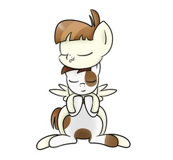 Size: 650x600 | Tagged: safe, artist:pvryohei, featherweight, pipsqueak, cute, feathersqueak, gay, male, shipping
