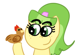 Size: 505x361 | Tagged: safe, artist:krabbshack, chickadee, ms. peachbottom, games ponies play