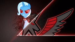 Size: 1920x1080 | Tagged: safe, artist:wmill, trixie, alicorn amulet, red eyes, vector, wallpaper