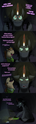 Size: 700x2400   Tagged: safe, king sombra, oc, oc:coffee talk, ask king sombra, candle, puppet, sock puppet, tumblr