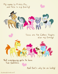 Size: 700x900 | Tagged: safe, artist:egophiliac, carrot cake, cloudy quartz, cup cake, igneous rock pie, limestone pie, marble pie, pinkie pie, pound cake, pumpkin cake, earth pony, pegasus, pony, unicorn, slice of pony life, adoraquartz, cake family, carrot cup, carrotbetes, colt, comic, cute, cute cake, daaaaaaaaaaaw, family, feels, female, filly, foal, glasses, limabetes, male, marblebetes, mare, older, older pound cake, older pumpkin cake, pie family, poundabetes, pumpkinbetes, quartzrock, shipping, stallion, straight, the cakes