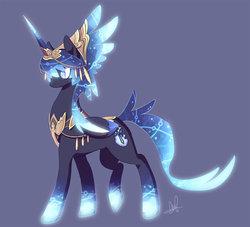 Size: 1024x930   Tagged: safe, artist:lanmana, oc, oc only, oc:prince novalis, alicorn, pony, alicorn oc, glow, solo
