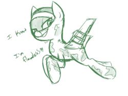 Size: 560x420 | Tagged: safe, artist:jessy, oc, oc only, oc:skybreaker, original species, plane pony, pony, mig-25, plane, solo