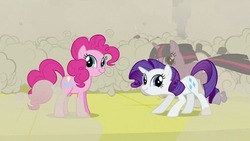 Size: 696x392 | Tagged: safe, pinkie pie, rarity, twilight sparkle, twiface, wrong neighborhood