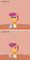 Size: 600x1210 | Tagged: safe, rainbow dash, scootaloo, changeling, g3, g3.5, horror