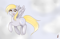 Size: 670x438 | Tagged: safe, artist:muppiz, derpy hooves, pegasus, pony, :p, female, mare, solo, tongue out