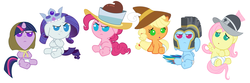 Size: 8400x2800 | Tagged: absurd res, applejack, artist:beavernator, babity, baby, baby dash, babyjack, babylight sparkle, baby pie, baby pony, babyshy, chancellor puddinghead, clothes, clover the clever, commander hurricane, costume, diaper, filly, fluttershy, foal, hearth's warming eve, hearth's warming eve (episode), mane six, pinkie pie, pony, princess platinum, private pansy, rainbow dash, rarity, safe, smart cookie, twilight sparkle