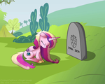 Size: 900x720 | Tagged: grave, immortality blues, princess cadance, princess sadance, sad, safe, shining armor