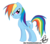 Size: 1000x882 | Tagged: dead source, safe, artist:bronyfang, rainbow dash, pegasus, pony, female, mare, signature, simple background, smiling, solo, transparent background