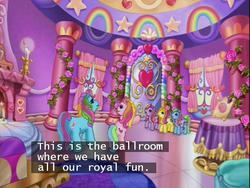 Size: 640x480 | Tagged: ballroom, brights brightly, cheerilee (g3), crystal rainbow castle, g3, greetings from unicornia, rarity (g3), safe, subtitles, unicornia, whistle wishes