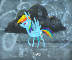 Size: 718x601 | Tagged: artist:cygaj, cloud, cloudy, rainbow dash, safe, solo