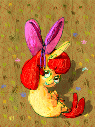 Size: 700x929 | Tagged: apple bloom, artist:cygaj, safe, solo