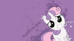 Size: 1920x1080 | Tagged: artist:3ight8it, :c, minimalist, sad, safe, sweetie belle, sweetie frown, vector, wallpaper, woobie