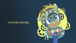 Size: 1920x1080 | Tagged: :3, artist:saturnspace, clockwise whooves, doctor whooves, safe, time turner, wallpaper
