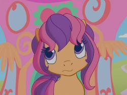 Size: 640x480 | Tagged: safe, screencap, scootaloo, scootaloo (g3), twinkle wish adventure, bored, female, g3, g3.5, solo