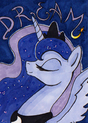 Size: 250x350 | Tagged: artist:nikkiwardart, princess luna, safe