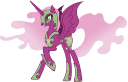 Size: 1600x1024 | Tagged: alicorn, artist:doctorxfizzle, cheericorn, cheerilee, dead source, fusion, nightmare cheerilee, nightmare moon, nightmare recolors, pony, race swap, recolor, safe