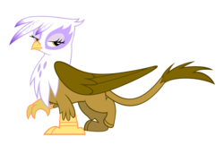 Size: 10800x7000 | Tagged: safe, artist:peachspices, gilda, griffon, griffon the brush off, absurd resolution, bedroom eyes, female, simple background, solo, transparent background, vector
