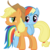 Size: 5738x5760 | Tagged: dead source, safe, artist:waranto, applejack, rainbow dash, earth pony, pegasus, pony, absurd resolution, applebetes, appledash, cute, dashabetes, female, females only, jackabetes, lesbian, mare, shipping, simple background, sweet dreams fuel, transparent background, vector, waranto is trying to murder us