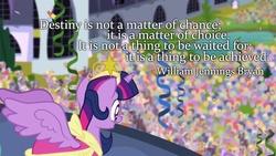 Size: 800x450   Tagged: safe, artist:wisdomhoof, twilight sparkle, alicorn, pony, female, mare, quote, twilight sparkle (alicorn)