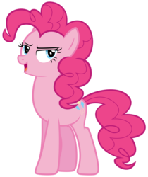 Size: 7200x8567 | Tagged: safe, artist:discorded, part of a set, pinkie pie, games ponies play, absurd resolution, bedroom eyes, crystal empire cheer meme, female, simple background, solo, transparent background, vector