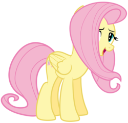 Size: 8938x8613 | Tagged: safe, artist:discorded, part of a set, fluttershy, games ponies play, absurd resolution, bedroom eyes, crystal empire cheer meme, female, simple background, solo, transparent background, vector