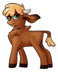 Size: 559x696 | Tagged: arizona cow, artist:theinkbot, community related, cow, fighting is magic, safe, solo, speculation, them's fightin' herds