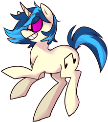Size: 991x1122 | Tagged: safe, artist:ghost, dj pon-3, vinyl scratch, pony, unicorn, grin, simple background, smiling, solo, white background
