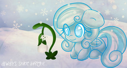 Size: 1000x533 | Tagged: safe, artist:starlightlore, oc, oc only, oc:snowdrop, pegasus, pony, winter