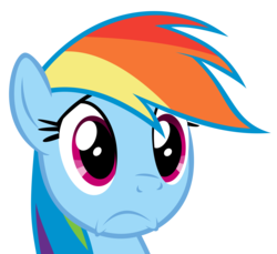 Size: 4548x4174 | Tagged: safe, artist:lahirien, rainbow dash, magical mystery cure, absurd resolution, cute, female, reaction image, sad, simple background, solo, transparent background, vector