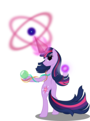 Size: 4071x5500 | Tagged: absurd res, alternate hairstyle, artist:ambassad0r, bipedal, magic, pony, safe, simple background, solo, transparent background, twilight sparkle, vector