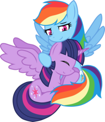 Size: 2791x3248 | Tagged: alicorn, artist:he4rtofcourage, female, lesbian, mare, pony, rainbow dash, safe, shipping, twidash, twilight sparkle, twilight sparkle (alicorn)