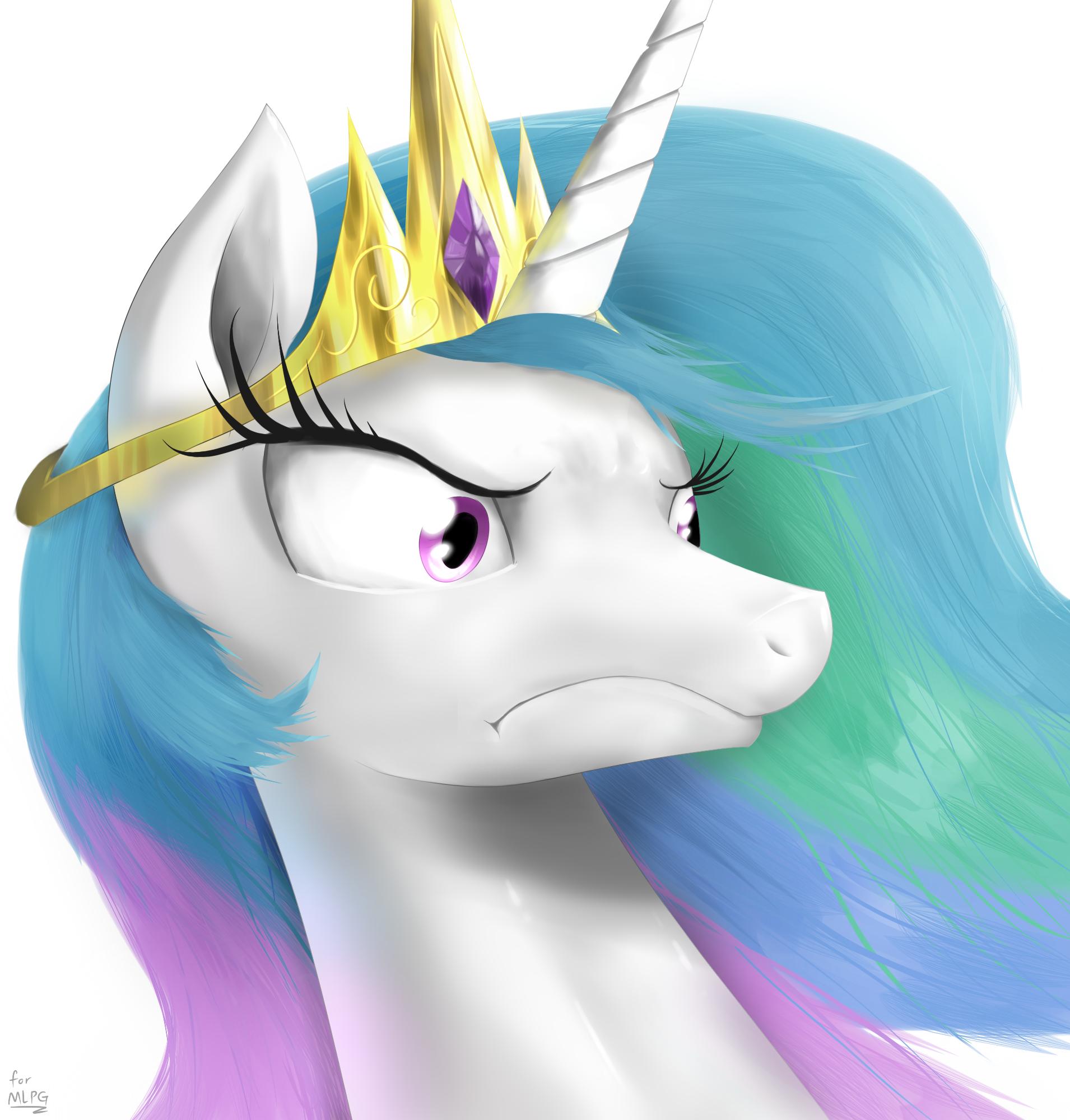 Angry Princess Celestia Princess Celestia
