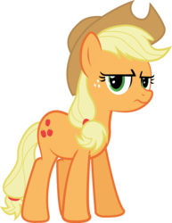 Size: 3388x4378 | Tagged: safe, artist:the-crusius, applejack, wonderbolts academy, applejack is not amused, cowboy hat, female, frown, grumpy, hat, looking at you, reaction image, simple background, solo, stetson, transparent background, unamused, vector