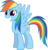 Size: 3866x4031 | Tagged: safe, artist:the-crusius, rainbow dash, reaction image, simple background, transparent background, vector