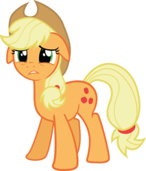 Size: 3488x4089 | Tagged: safe, artist:the-crusius, applejack, reaction image, simple background, transparent background, unhapplejack, vector