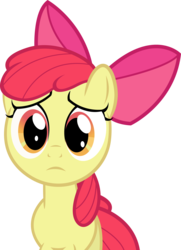 Size: 3588x4958 | Tagged: safe, artist:the-crusius, apple bloom, reaction image, sad, simple background, transparent background, vector