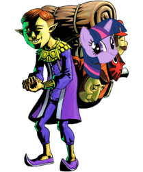 Size: 500x599 | Tagged: safe, twilight sparkle, happy mask salesman, majora's mask, mask, simple background, the legend of zelda, transparent background, twiface, vector, wrong neighborhood