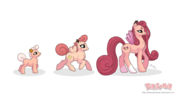Size: 3737x2065 | Tagged: safe, artist:almairis, clefable, clefairy, cleffa, evolution chart, female, filly, foal, mare, mother and daughter, pokémon, ponified, ponymon, simple background, socks (coat marking), transparent background