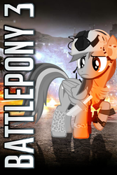 Size: 640x960 | Tagged: safe, artist:rdbrony16, rainbow dash, pegasus, battlefield, battlefield 3, crossover, iphone wallpaper, solo, text