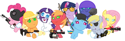 Size: 4800x1600 | Tagged: applejack, artist:beavernator, babity, baby, baby dash, babyjack, babylight sparkle, baby macintosh, baby pie, baby pony, babyshy, big macintosh, crossover, demoderp, demoman, derpy hooves, diaper, engiejack, engineer, fluttermedic, fluttershy, foal, heavy mac, heavy weapons guy, medic, pinkie pie, pinkie pyro, pony, princess luna, pyro, rainbow dash, rainbow scout, rarispy, rarity, safe, scout, sniper, soldier, soldier luna, spy, team fortress 2, twilight sniper, twilight sparkle