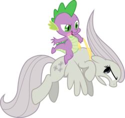 Size: 3000x2846 | Tagged: safe, artist:sulyo, fluttershy, spike, discorded, flutterbitch, riding, rodeo, rope