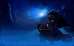 Size: 3360x2100 | Tagged: safe, artist:i-am-knot, king sombra, blizzard, snow, snowfall