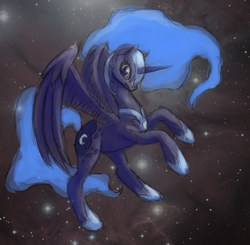 Size: 664x652 | Tagged: artist:vabla, nightmare moon, safe, solo